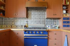 kitchen rustic backsplash from reclaimed tin roofing my work