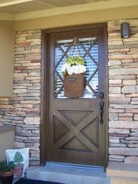 exquisite picture of front porch decoration using solid walnut