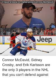 Nhl Memes - have a book on defending connor mcdavid elite nhl memes jeep nj