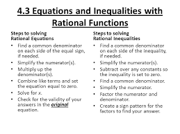 4 3 equations and inequalities with rational functions