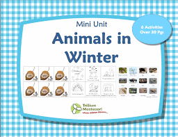6 best images of animals in winter printables winter animal