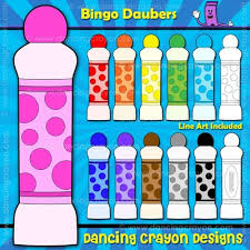 bingo daubers clipart