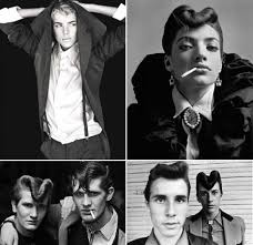 teddy boy hairstyle current obsession teddy boys achromatic heart