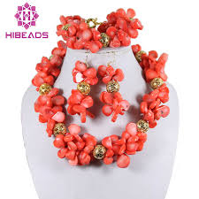 natural coral necklace images Handmade natural coral jewelry set fashion african coral beads jpg