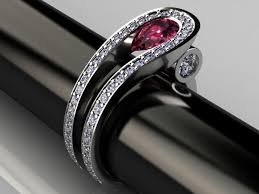 ruby rings designs images Palladium ruby and diamond two row contemporary ring design too jpg