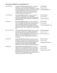 Childcare Resume Sample by Resume Nanny Responsibilities On Resume