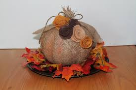 fall burlap covered pumpkin centerpiece felt flowers pumpkin zoom