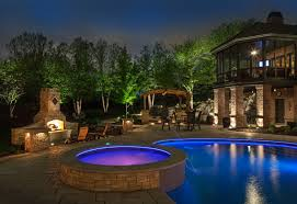 innovative outdoor lighting around pool ideas with pictures