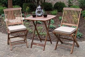 Gp Products Patio Furniture Amazon Com Outdoor Interiors Eucalyptus 3 Piece Square Bistro