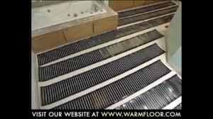 Ultra Fin Radiant by Step Warmfloor Installation Youtube