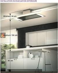 hotte cuisine plafond hotte de plafond avec éclairage par leds de 140cm de largeur