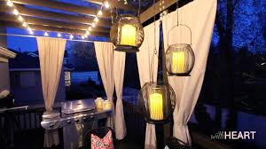 outdoor string lights and hanging lanterns withheart youtube
