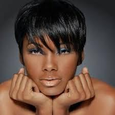 boycut hairstyle for blackwomen sophisticated straight jet black human hair short boy cut women s