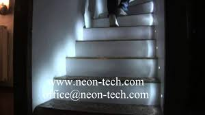 indoor led stair lights with sensor led stair lighting interior you