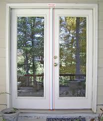 door white glass reliabilt doors with golden handle matched with