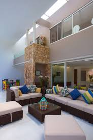 Decorating Ideas For Living Rooms With High Ceilings by Architecture Warmth Living Room Ideas Colorful Cushion High