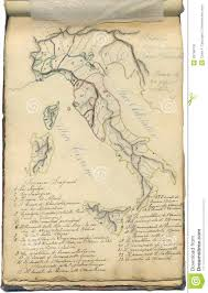 Norcia Italy Map Vintage Italy Map Greece Map