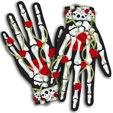 halloween skeleton gloves sugar skull gloves halloween costume u2013 silverrainstudio com