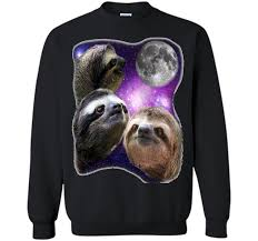 Sloth Meme Shirt - sloth shirt three wolves moon parody meme shirt t shirt printed