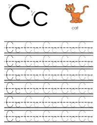 free alphabet tracing letter c worksheet preschool crafts