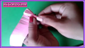 easy paper flower making craft for children youtube