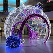 outdoor decorative big led light balls