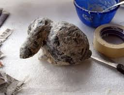 paper mache rabbit how to make a paper mache bunny sculpture ultimate paper mache