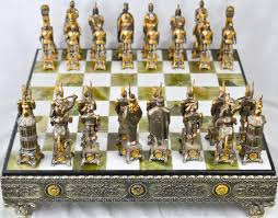 Chess Board Design Vintage Silver U0026 Gold Over Bronze Chess Set Home Design
