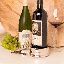 silver wine bottles make a creative wine bottle coaster sorrentos bistro home