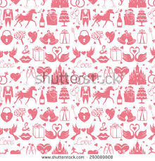 wedding backdrop design vector vector wedding icons seamless pattern backgroundflat stock