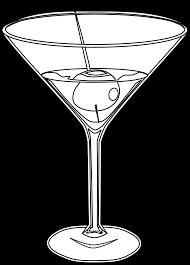 martini glass vector food martini martini black white line art scalable vector graphics