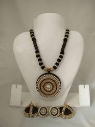 threaded earrings silk threaded necklace with earrings