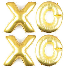 gold letter balloons xoxo balloons 40 inch letters wedding or