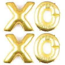 amazon com xoxo balloons huge 40 inch letters wedding or