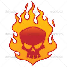 flaming skull designs template and