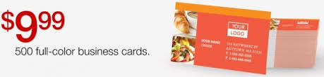 staples 500 color business cards only 9 99 freebies for a