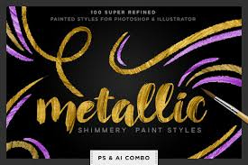 shimmery swirls metallic swirly paint styles for photoshop and