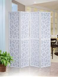 White Room Divider - amazon com elegant cut out design white 4 panel folding screen