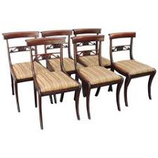 Regency Dining Chairs Mahogany Regency Side Chairs 66 For Sale At 1stdibs
