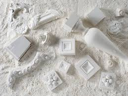 samples of a stucco moulding from plaster stock photo picture and