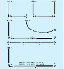 80cm Curtain Pole L Tape Corner Shower Curtain Rod Aluminum Alloy 25mm 0 5mm 80 80cm
