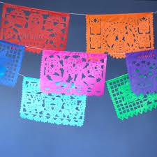 Mexican Party Flags Multicolor Mexican Wedding Paper Picado Banner Luna Bazaar