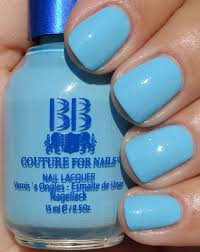 buy cool sky blue with lots of subtle shimmer nail polish for women