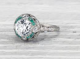 vintage emerald engagement rings emerald vintage engagement rings wedding promise diamond