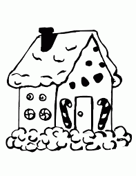 printable gingerbread house coloring pages 351113