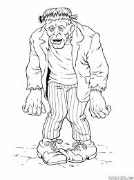 Free Coloring Pages For Halloween Coloring Pages Free Halloween For Adults Halloween Frankenstein