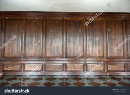 Wall Wood Paneling by Old Medieval Wood Paneling Covering Wall Stock Photo 211610326