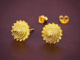 design of earrings gold gold earrings radhika jewellers