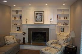 Fireplace Bookshelves by Tv Above Electric Fireplace With Bookshelves Fireplace Surround