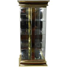 Lighted Display Cabinet Lighted Display Vitrine Cabinet In Brass Finish Attributed To